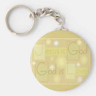 Gold, GOTT IST LIEBE Standard Runder Schlüsselanhänger