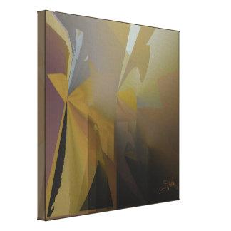 Gold, Grau u. Lila am Nachmittag Leinwanddruck