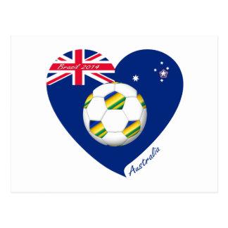 """Gold & Green Soccer Team. Fußball von """"AUSTRALIEN  Postkarten"""