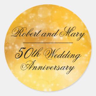 Gold, Hochzeits-Jahrestags-Umschlag Aufkleber des