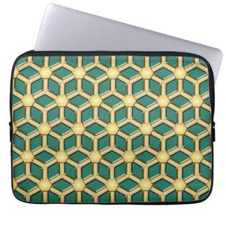 Gold II deckte Hexe-Laptop-Hülse mit Ziegeln Computer Schutzhüllen