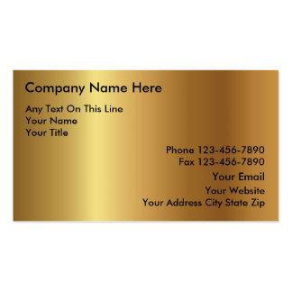 Gold-Investitions-Visitenkarten Visitenkarten