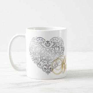 "Gold ""ist meins!"" Valentine SilverFiligree Kaffeetasse"