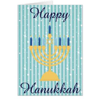 Gold Menorah glückliches Chanukka Karte