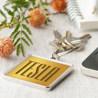 Gold mit Monogramm Schlüsselanhänger