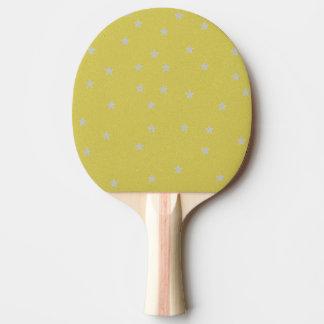 Gold mit Silber spielt Klingeln Pong Paddel die Tischtennis Schläger