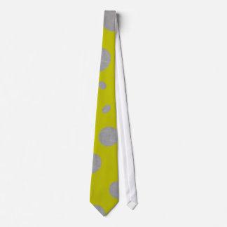 Gold mit silbernen Tupfen Personalisierte Krawatte