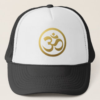 Gold-OM-Symbol-Hut Truckerkappe