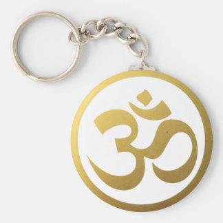 Gold-OM-Symbol Keychain Schlüsselanhänger
