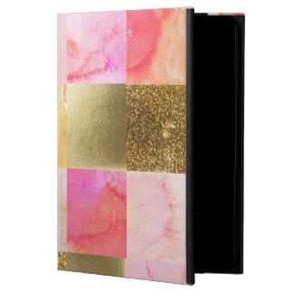 Gold, Pastelle, Wasserfarben, Quadrate, Collage,