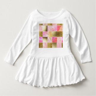 Gold, Pastelle, Wasserfarben, Quadrate, Collage, Kleid