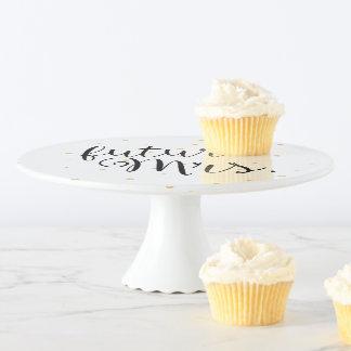 Gold punktiert tolle zukünftige Frau Cake Stand Tortenplatte