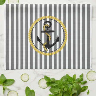 Gold Rope_Gray-White-Double Images-_Dish_Towels_ Küchentuch