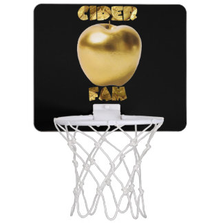 Gold/Schwarz-MiniBasketballkorb Mini Basketball Ring