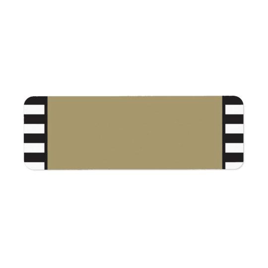 Gold - Schwarzweiss-Streifen - Rücksendeadresse