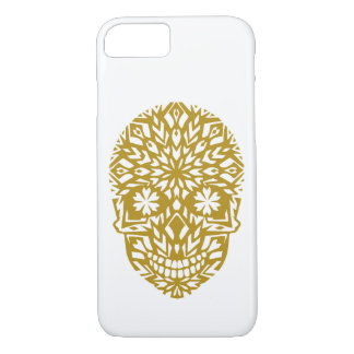 gold skull, ornament, winter, snowflake, snow iPhone 8/7 hülle
