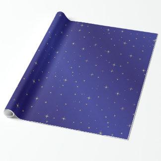 Gold spielt blauer Himmel-Packpapier die Geschenkpapier