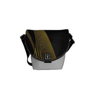 Gold stilvoll - Minibote-Taschen-äußerer Druck Kuriertasche