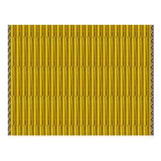 Gold Stripes elegante Postkarte