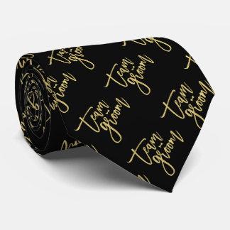 Gold Team Groom Bow Tie Bachelor Party Wedding Tie Personalisierte Krawatte