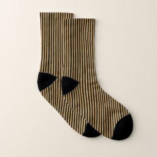 Gold u. schwarze Streifen Socken