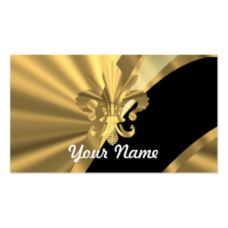 Gold u. schwarzer Fleur de Lys Visitenkarten