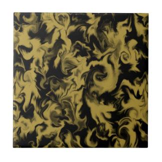 Gold- u. Schwarzmischfarbfliese Fliese