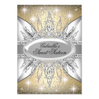 Gold-u. Silber-Schein-Diamant-Bonbon 16 laden ein 11,4 X 15,9 Cm Einladungskarte