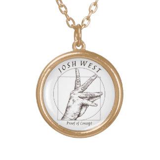 Gold überzogener Halsketten-Beweis des Vergoldete Kette