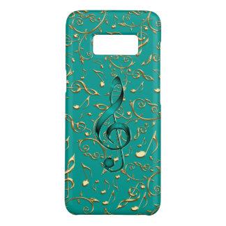 Gold und aquamariner Musiknoten und Clefs Case-Mate Samsung Galaxy S8 Hülle