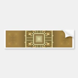 Gold-und Creme-geometrisches Muster Autoaufkleber