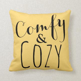 Gold und gelbe Throw-Kissen-bequeme Cozy Kissen