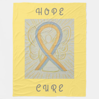 Gold und graue Bewusstseins-Band-Engel Chemo Decke