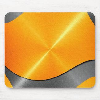 Gold und graues glänzendes Edelstahl-Metall Mauspads