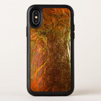 Gold und grüner Messing überzogenes abstraktes OtterBox Symmetry iPhone X Hülle