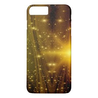 Gold- und Holzscheinstern-Telefonkasten iPhone 8 Plus/7 Plus Hülle