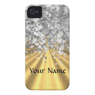 Gold- und Imitat-Glitter Case-Mate iPhone 4 Hülle