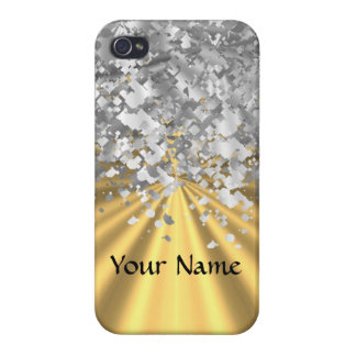 Gold- und Imitat-Glitter iPhone 4/4S Cover