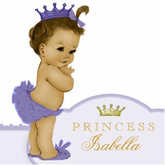Gold und lila Dusche Prinzessin-Baby Foto Skulptur