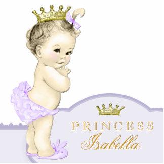 Gold und lila Dusche Prinzessin-Baby Photoausschnitte