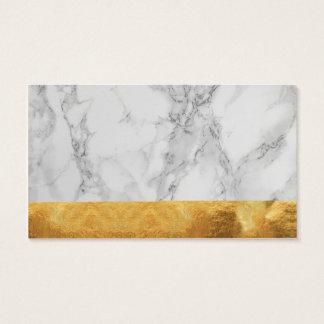 Gold und Marmor Visitenkarte