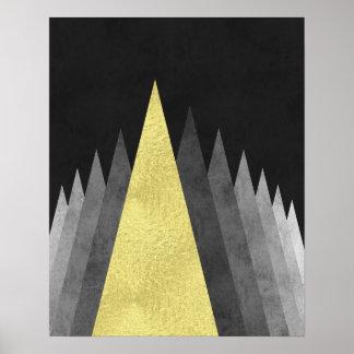 Gold und moderne minimale geometrische Kunst des Poster