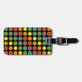 Gold-und Regenbogen-Polk-Punkte Gepäckanhänger