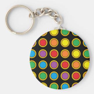 Gold-und Regenbogen-Polk-Punkte Schlüsselanhänger