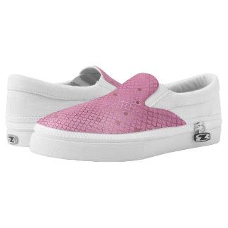 Gold und rosa Meerjungfrau-Skalen Slip-On Sneaker
