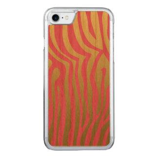 Gold und rosa Zebra-Streifen-Muster Carved iPhone 8/7 Hülle
