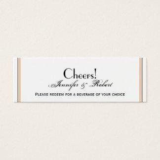 Gold-und Rost-Fall-Blatt-Hochzeits-Getränk-Karte Mini Visitenkarte