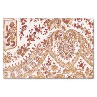 Gold und rote Spitze-Rosen Seidenpapier