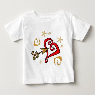 Gold und rotes Herz Hemden