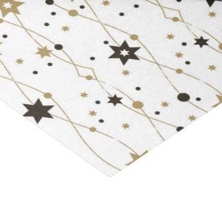 Gold und schwarze Feiertags-Sterne Seidenpapier